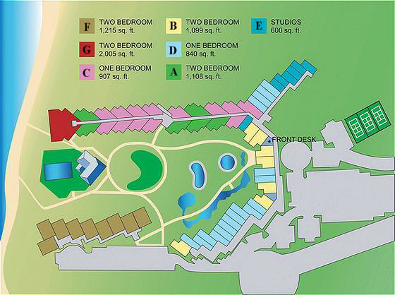 Kaanapali Shores site map